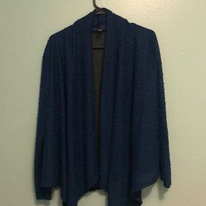 Blue with black see through cardigan